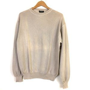 J. Peterman Company beige brown cotton pullover